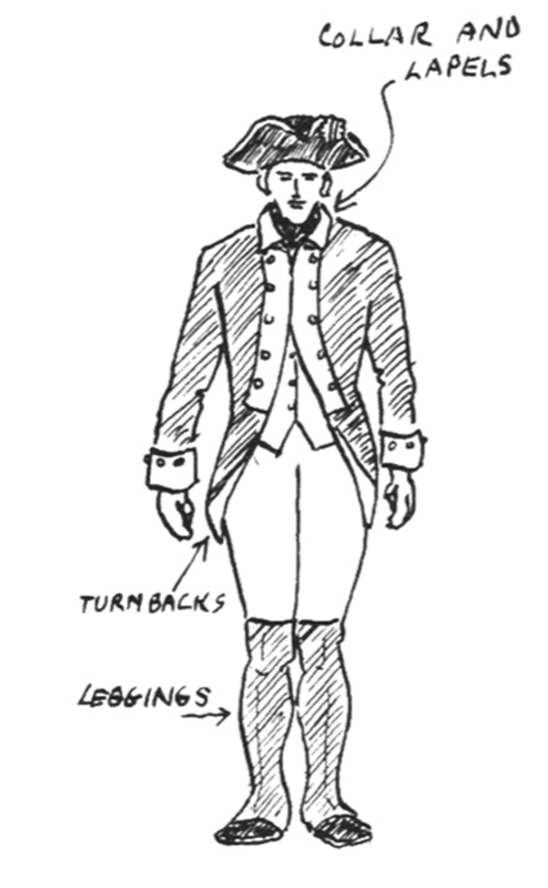 Revolutionary War solder coloring pages: 11 historic uniforms ... | 800x494